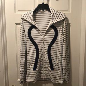 Lululemon striped logo jacket